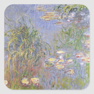 Water-Lilies, Cluster of Grass Square Sticker