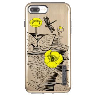 Water-lilies engraving incipio DualPro shine iPhone 8 plus/7 plus case