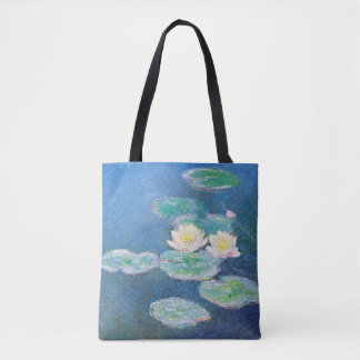 Water Lilies, Evening Effect by Claude Monet Tote Bag
