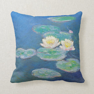 Water Lilies, Evening Effect by Monet Throw Cushions