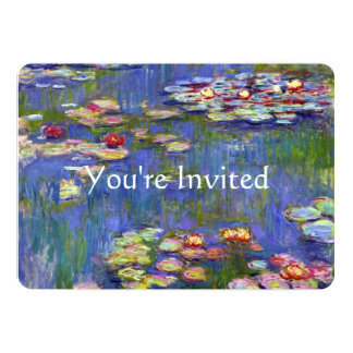 Water Lilies Fine Art Wedding Card