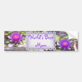 Water Lilies Floating World's Best Mom Car Bumper Sticker