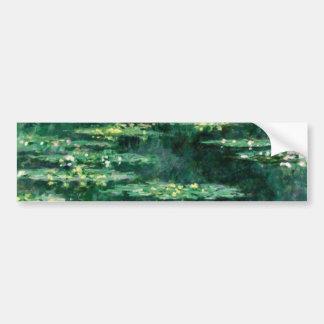 WATER LILIES  Green Bumper Sticker