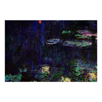 Water Lilies Green Reflection 1920-1926 Poster