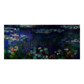 Water Lilies, Green Reflection,1920-1926 Poster