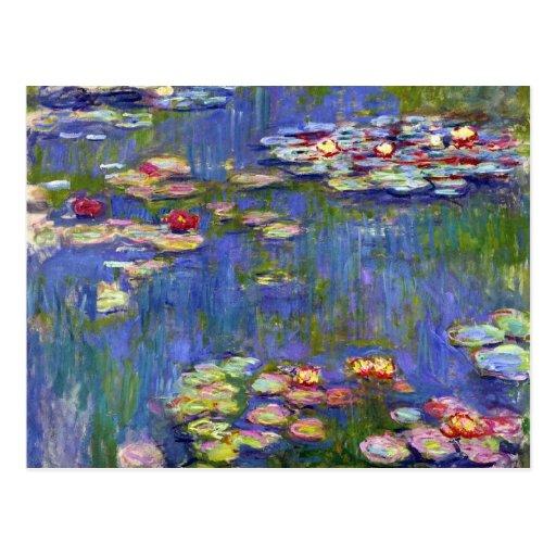Water Lilies Impressionism Postcard