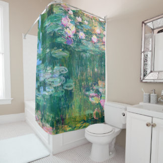 Water Lilies in Bloom Monet Fine Art Shower Curtain