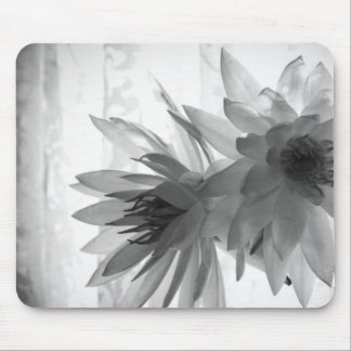 Water Lilies in Monochrome Mouse Pad