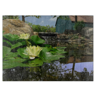 Water Lilies In Pond Cutting Board