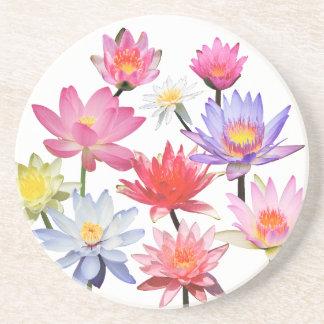 Water Lilies & Lotus Sandstone Coaster