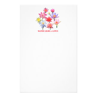 Water Lilies & Lotus Stationery