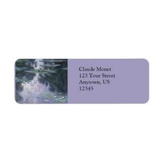 Water Lilies (Nympheas) by Claude Monet Return Address Label