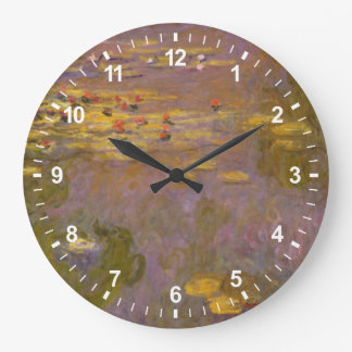 Water Lilies Nympheas Large Clock