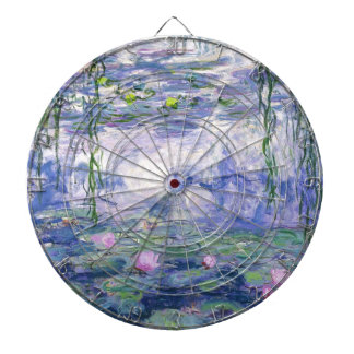 Water Lilies Painting Dartboard