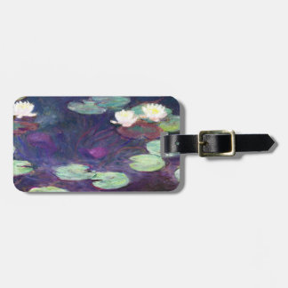 Water Lilies, Pink, 1897-99 Claude Monet cool, old Luggage Tag
