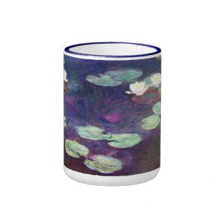 Water Lilies, Pink, 1897-99 Claude Monet cool, old Ringer Mug