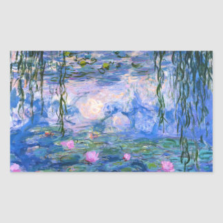 Water Lilies Rectangular Sticker