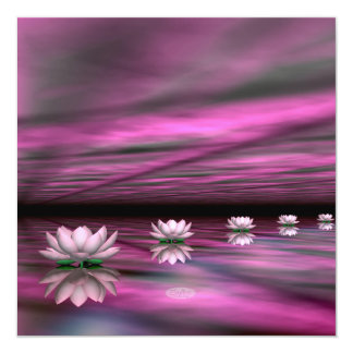 Water lilies steps the horizon - 3D render Card