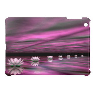 Water lilies steps the horizon - 3D render iPad Mini Cases
