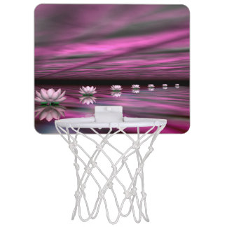 Water lilies steps the horizon - 3D render Mini Basketball Hoop
