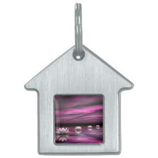 Water lilies steps the horizon - 3D render Pet ID Tags