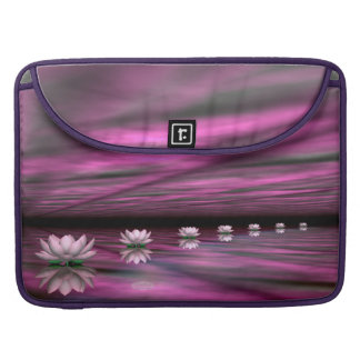 Water lilies steps the horizon - 3D render Sleeves For MacBook Pro