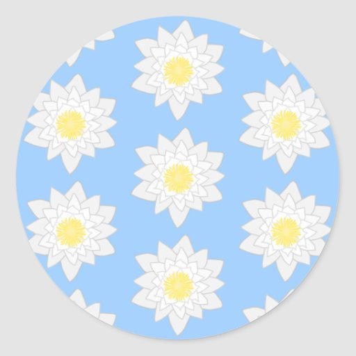 Water Lilies. Stickers