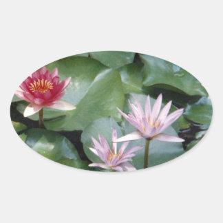 Water Lilies Sticker Ovl