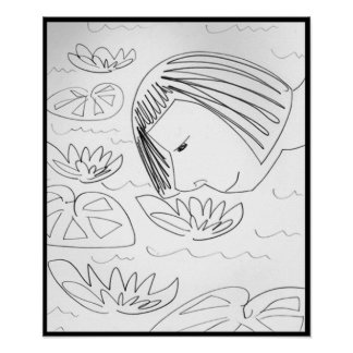 Water Liliies Poster