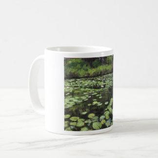 Water lillies print on coffee mug