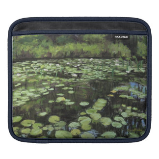 Water lillies print on laptop sleeve