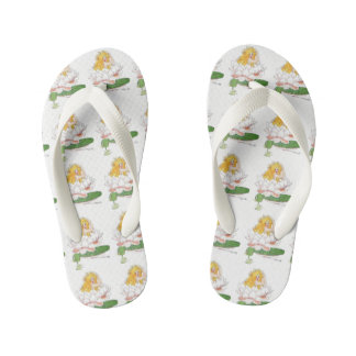 Water Lilly Cute Flower Child Floral Funny Girl Kid's Thongs