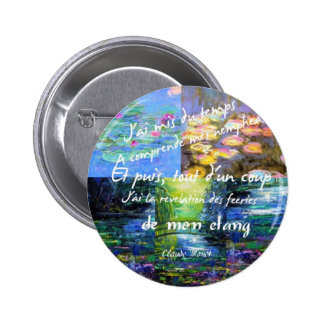 Water lily and Monet fascination. 6 Cm Round Badge