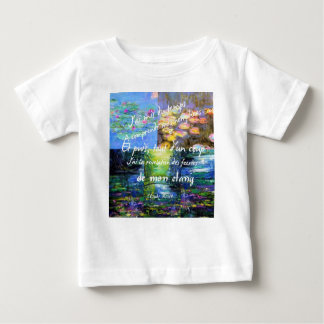 Water lily and Monet fascination. Baby T-Shirt