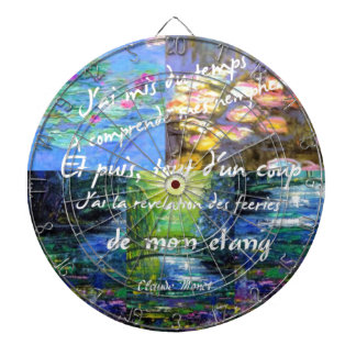 Water lily and Monet fascination. Dartboard