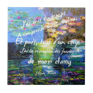 Water lily and Monet fascination. Tile