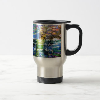 Water lily and Monet fascination. Travel Mug