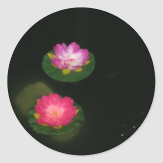 water lily at night stickers