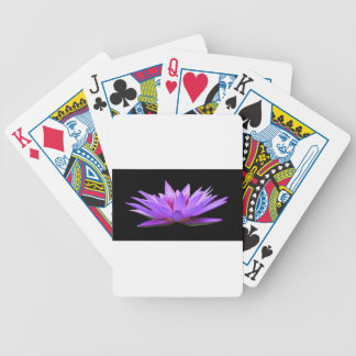 water-lily bicycle playing cards