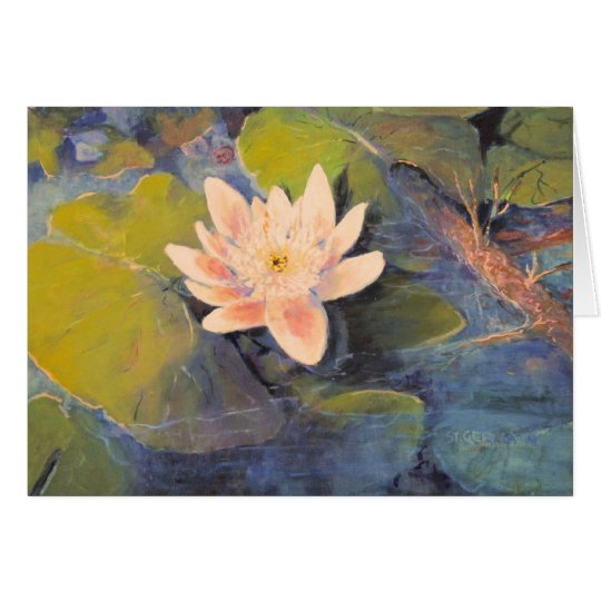 Water Lily Bloom Card