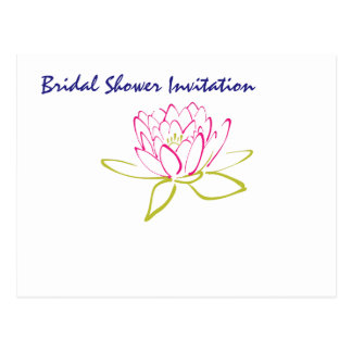 Water Lily Cheap Inexpensive Bridal Shower Party Postcard