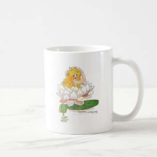 Water Lily Cute Flower Child Floral Fairy Girl Coffee Mug