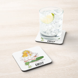 Water Lily Cute Flower Child Floral Fairy Girl Drink Coaster