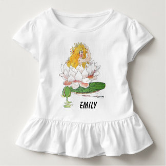 Water Lily Cute Flower Child Floral Fairy Girl Toddler T-Shirt