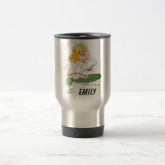 Water Lily Cute Flower Child Floral Fairy Girl Travel Mug