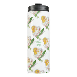 Water Lily Cute Flower Child Floral Vintage Kids Thermal Tumbler