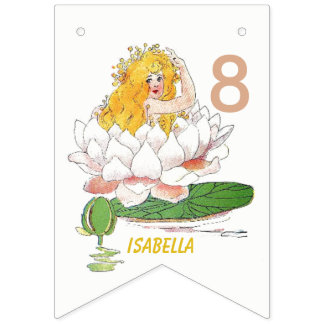 Water Lily Fairy Flower Child Floral Cute Girl Bunting