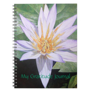 Water Lily Fine Art Gratitude Journal