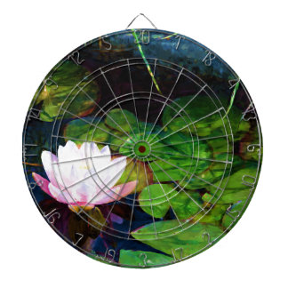 Water lily floating in a pond dartboard