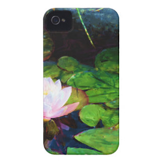Water lily floating in a pond iPhone 4 covers